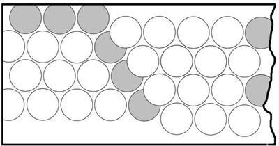 Exemplo para mostrar como a máquina bate moedas em fim de chapa, onde faltam pedaços nos lados da moeda
