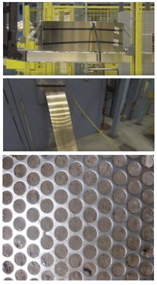 Chapas para corte dos discos onde serão batidos as moedas