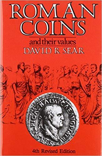 Capa da quarta edição do livro roman coins and their values de david r. sear